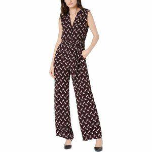 MICHAEL Michael Kors Womens Chevron-Print Jumpsuit